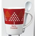 クリスマス・スプーン付マグカップ   (1個) ご注文は、30個以上でお願いします。06-31