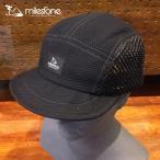 milestone(マイルストーン) original cap MSC-008 Black メンズ・レディース メッシュキャップ 【トレイルランニング/ジョギング/帽子/キャップ/トレラン】