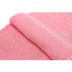 帯揚げ 帯揚 正絹 四つ巻 総絞り 金彩雲取り 薄ピンク ラメ 成人式振袖帯揚げ