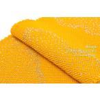 帯揚げ 帯揚 正絹 四つ巻 総絞り 金彩雲取り 黄色 ラメ 成人式振袖帯揚げ