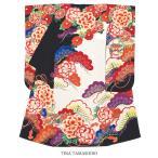 振袖 ブランド 玉城ティナ キスミス 黒 赤 橙 白 牡丹 貝桶 花 絵羽振袖 振り袖 成人式 結婚式 レディース 仕立て上がり 日本製 送料無料