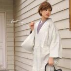 ショッピングコート コート 道中着 薄水色 ブルー 縞 ストライプ ぼかし字模様 和装 道行コート Mサイズ Lサイズ 送料無料