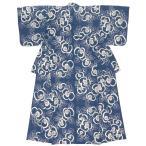 浴衣 レディース レトロ 単品 大人 女性 そしてゆめ 紺 ネイビー 椿 ツバキ 綿 夏 注染 日本製 フリー 送料無料