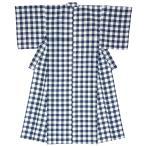浴衣 単品 レディース 大人 レトロ 女性 紺 生成り チェック 30代 40代 50代 綿 モダン 夏 そしてゆめ 日本製 仕立て上がり 送料無料