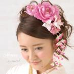 ショッピング髪飾り 髪飾り 花 フラワー 成人式振袖髪飾り 卒業式袴髪飾り ピンク  女性用和装髪飾り