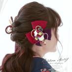 髪飾り3点セット 花 フラワー 成人式振袖髪飾り 卒業式袴髪飾り 紫 和柄