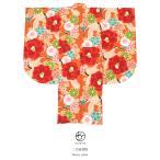 袴用二尺袖着物 橙色 オレンジ 赤 レッド 椿 梅 鶴 小振袖 袴用 卒業式 謝恩会 販売 仕立て上がり 送料無料