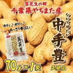 落花生 やちまた産 八街 殻付き 中手豊 なかてゆたか 70g×1袋 正規品 千葉 ピーナッツ お試し