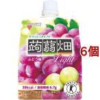 クラッシュタイプの蒟蒻畑ライト ぶどう味 ( 150g*6コセット )/ 蒟蒻畑 ( 蒟蒻畑 クラッシュ こんにゃく ゼリー ダイエット食品 )