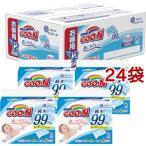 グーン 肌にやさしいおしりふき つめかえ用 ( 70枚x12コ入*2コセット )/ グーン(GOO.N)