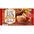 クリーム玄米ブラン メープルナッツ&グラノーラ ( 2枚*2袋入6コセット )/ バランスアップ(BALANCEUP)