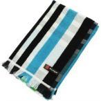林 ポルト ホワイト&チェック ウォッシュタオル ブルー WE700301(1枚入)