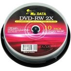 MR.DATA アナログ録画用 DVD-RW 4.7GB 2倍速 スピンドルケース入り DVD-RW47 2X 10PS ( 10枚入 )