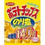 (訳あり)湖池屋 ポテトチップス のり塩 お徳用 ( 140g ) ( お菓子 おやつ )