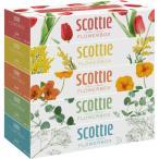 スコッティ ティシュー フラワーボックス ( 320枚(160組)*5コ入 )/ スコッティ(SCOTTIE) ( スコッティ ティシュー ティッシュ 日用品 )