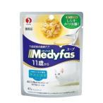 メディファス スープパウチ 11歳から・老齢猫用 まぐろ・ささみ しらす・かつお節入り ( 40g )/ メディファス