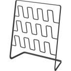 スリッパラック フレーム 6足用 ワイド ブラック ( 1台 )