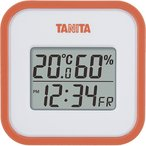 タニタ デジタル温湿度計 オレンジ TT558OR 1コ入