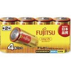 富士通 アルカリ乾電池 単2 4本パック ロングライフ ( 1セット )