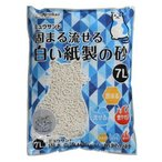 猫砂 クリーンミュウ ミュウサンド 固まる流せる白い紙製の砂 ( 7L )/ クリーンミュウ