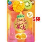 果汁グミ とろけるふたつの果実 キウイ&マンゴージュレ ( 52g*5袋セット )/ 果汁グミ