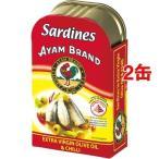 (訳あり)アヤム オリーブオイル サーディン チリ味 ( 120g*2缶セット )/ アヤム ( 缶詰 )