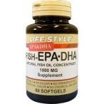 Yahoo!爽快ドラッグライフスタイル フィッシュオイル EPA・DHA ( 60粒 )/ ライフスタイル(LIFE STYLE) ( ライフスタイル dha サプリ サプリメント )