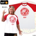 新日本プロレス×SOUL SPORTSコラボ ラグランTシャツ レッド