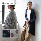 SALE セール 袖花柄ロングニットカーディガン レディース 羽織り 長袖 soulberryオリジナル/お客様都合での返品交換不可
