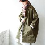 「もっと、こうでもいいのになっ。」ジャケッチョ レディース ジャケット コート 羽織り アウター ステンカラーコート ハーフコート コットン ミディアム ワーク