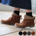 ブーツ ボア 後ろリボン スウェード調 ショートブーツ シューズ 靴 ローヒール フラット 2WAY フェイクスエード レディース soulberryオリジナル