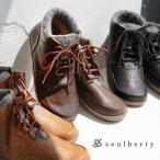 ブーツ ワーク風 切り替え ショートブーツ レディース 靴 シューズ 合皮 フェイクレザー ウール風  レースアップ フラット ぺたんこ soulberryオリジナル