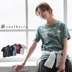 Tシャツ レディース カットソー プルオーバー  ロゴプリント 半袖 トップス soulberryオリジナル