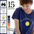Tシャツ レディース カットソー プルオーバー 動物 猫 ネコ 鳥 半袖 トップス
