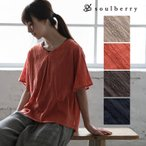 Yahoo!soulberrySALE セール プルオーバー レディース プルオーバー 五分袖 5分袖 半袖 綿  幾何学柄 トップス soulberryオリジナル//返品 交換 キャンセル不可