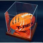 ラグビーボールコレクションケース・木製/UVカット・横斜め置き型