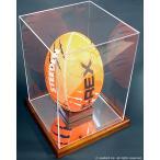 ラグビーボール展示用ケース・木製/UVカット・縦置き