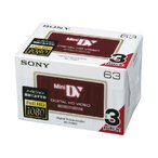 ミニDVカセット (3巻パック)  3DVM63HD