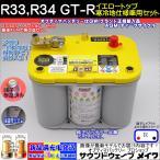 イエロートップ R33、R34 GT-R 寒冷地仕様車用セット D1000S / YT S4.2L / 8012-254 オプティマ バッテリー / OPTIMA