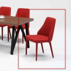 F250 RED DBL エディー ダイニングチェアー 清美堂 WEST POINT EDDIE 食堂イス いす 椅子 布張り ファブリック シンプル モダンタイプ 洋風 北欧風 かわいい