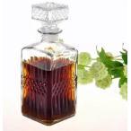 ヴィンテージ風 ワイン ウィスキー グラス デキャンタ 1000ml クリスタル ボトル