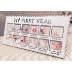 Yahoo!southanshop12ヶ月 ベビー フォトフレーム 出産祝い マイファーストイヤー 赤ちゃん の 思い出 に