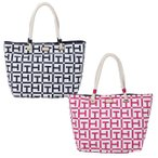 TOMMY HILFIGER トミーフィルフィガー トートバッグ キャンバス ROPE TOTE TOTE LG SIG PRINTED CANVA