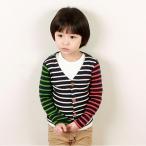 韓国子供服 wittyboy (ウィッティーボーイ カーディガン) クレイジーカラーカーディガン
