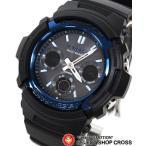 Gショック カシオ G-SHOCK CASIO 腕時計 メンズ 人気 電波 ソーラー AWG-M100A-1AJF ブラック 黒 ブルー 青 国内モデル