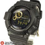 G-SHOCK Gショック 腕時計 メンズ 人気 カシオG-9300GB-1DR MUDMAN マッドマン ソーラー 黒×金