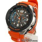 ショッピングGW スカイコックピット 腕時計 G-SHOCK Gショック メンズ 人気 電波 ソーラー GW-3000M-4AER GW-3000M-4A g-shockブラック 黒×オレンジ