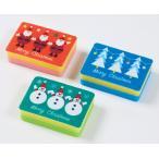 クリスマス キッチンスポンジ(3コ入)y890702※50個以上でのご注文をお願いします。(端数出荷可 例:64個 210個など)