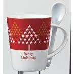 クリスマス・スプーン付マグカップ※30個以上でのご注文をお願いします。(端数出荷可 例:64個 210個など)