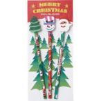 クリスマス消しゴム付鉛筆(3本セット)※80個以上でのご注文をお願いします。(端数出荷可 例:84個 210個など)